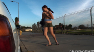 Outdoor public sex. Rooftop blowjob from - XXX Dessert - Picture 15