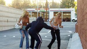 Outdoorsex. Girls sharked, stripped and  - XXX Dessert - Picture 7
