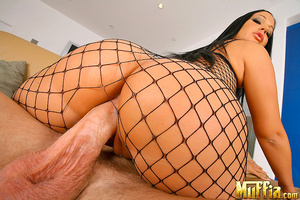 Big penis sex. Sexy fishing net brunet a - XXX Dessert - Picture 7