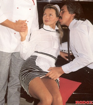 Hairy beauty. A sexy retro house maid ba - XXX Dessert - Picture 3