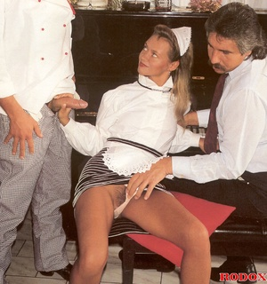 Hairy beauty. A sexy retro house maid ba - XXX Dessert - Picture 4