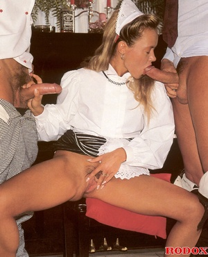 Hairy beauty. A sexy retro house maid ba - XXX Dessert - Picture 6