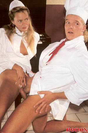 Hairy beauty. A sexy retro house maid ba - XXX Dessert - Picture 8