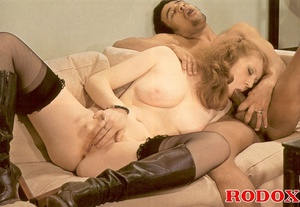 Hairy pussy. Retro couples having a hot  - XXX Dessert - Picture 10