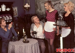 Hairy twat. Vintage maids and a hot stud - XXX Dessert - Picture 3