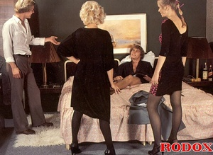 Hairy twat. Vintage maids and a hot stud - XXX Dessert - Picture 7