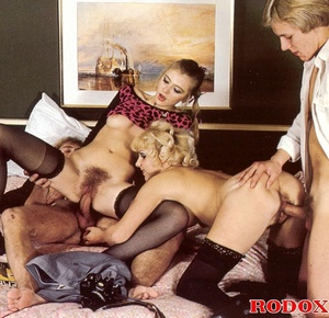 Hairy twat. Vintage maids and a hot stud - XXX Dessert - Picture 12
