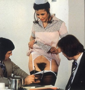 Hairy nude. Wet and hairy seventies puss - XXX Dessert - Picture 3
