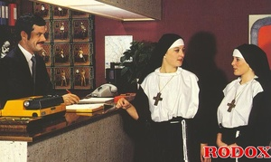 Hardcore sex. Retro nuns pleasing the ho - XXX Dessert - Picture 1