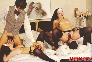 Hardcore sex. Retro nuns pleasing the ho - XXX Dessert - Picture 12