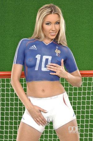 Russian small tits soccer