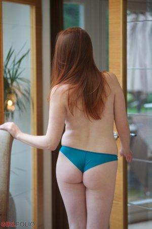 British pretty pale redhead big tits