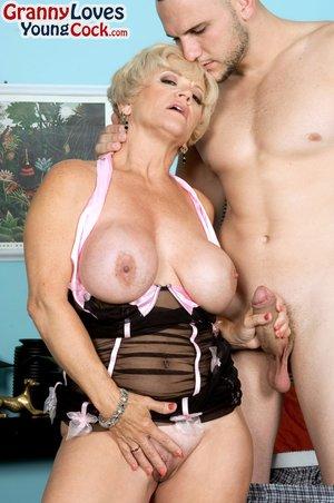 American blonde mature cougar granny
