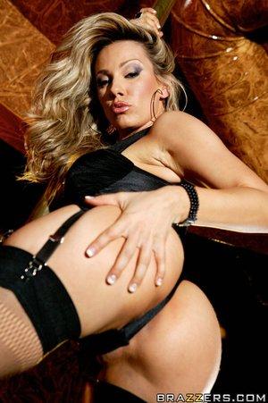 Swede stripping lesbian stripper