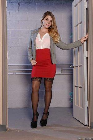 Young lesbian secretary