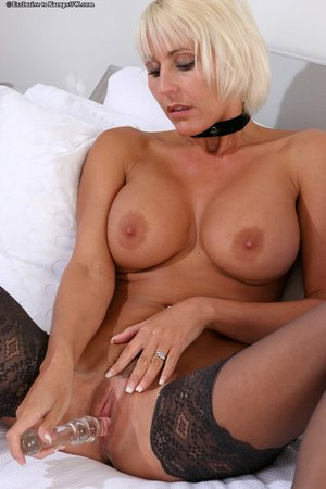 British blonde busty lingerie