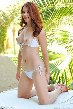 American pale redhead perky tits