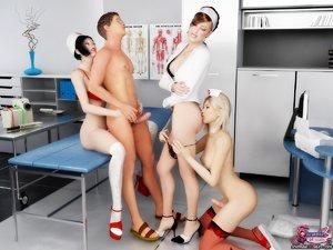 Hospital orgy afternoon nerdy