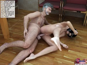 Young and curvacious, horny shemales are violently loving with oldsters in class - XXXonXXX - Pic 2