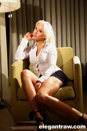 Czech sexy petite blonde milf