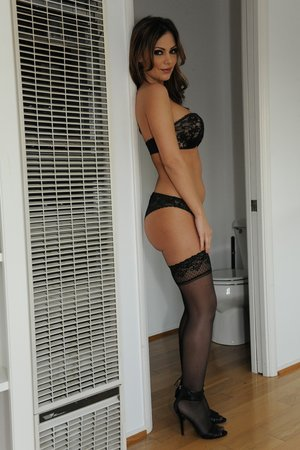 Seductive black stockings