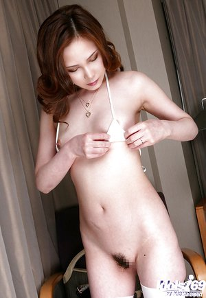 Sexy slender japanese wife