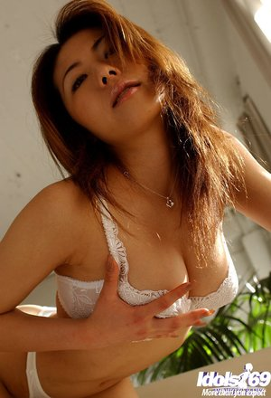 Topless busty japanese