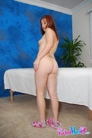 Naughty ass redhead