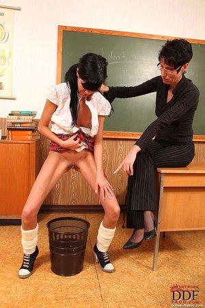 Small tits german milf teacher