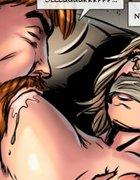 Guy sucks his blonde slave's boobs hard. Dumpster Diver By Celestin.