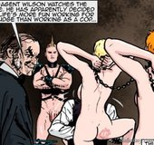 Slender slaves are chained and collared. The Hotties Next Door 9 By Predondo.