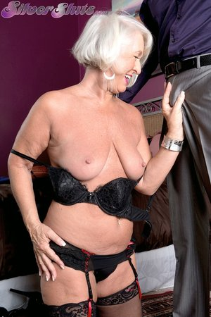 American blonde sexy granny anal