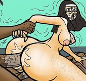 Nun fucked hard in the ass by black