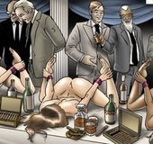 Bound ladies are served up to horny men. The Society 2 Purgatory By Erenisch.