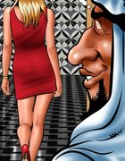 Arab man lusts after a gorgeous American. Harem 2018 By Cagri.
