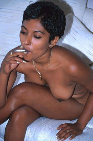 Beautiful smoking indian