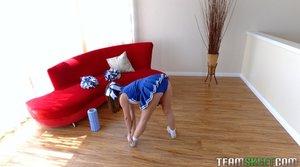 Athletic tiny teen
