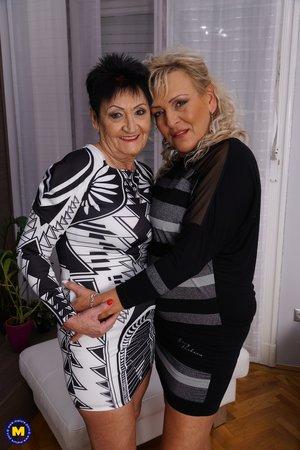 Lesbian bbw granny