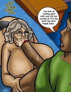 Granny is throat fucked after some great sex