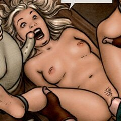 Blonde sub's legs are spread - BDSM Art Collection - Pic 1