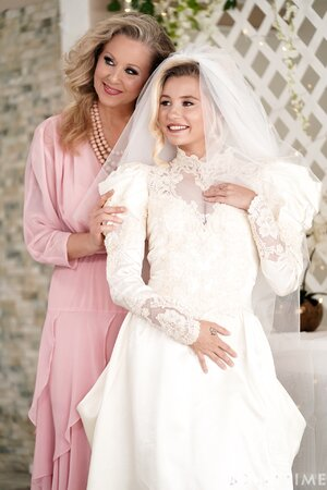 Lesbian bridesmaid seduces bride