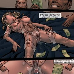 Cad tosses money at a whore after MFM - BDSM Art Collection - Pic 4