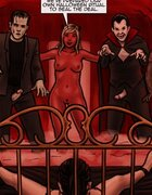 Diabolical creatures surround a bound slave. Trick And Treat By Slasher.