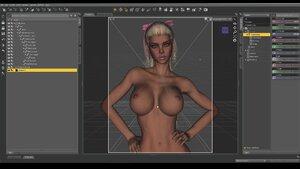 Sexy boobs blonde 3d tutorial