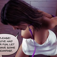 Hottie in a purple leash is mercilessly - BDSM Art Collection - Pic 2