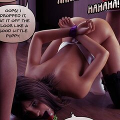 Sinister young men tie a stunner to a - BDSM Art Collection - Pic 4