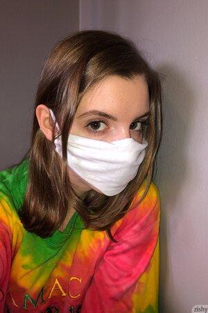 Bored teen teases during quarantine