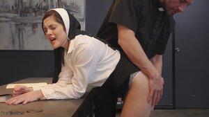 Nun subjected to brutish FFM fucking