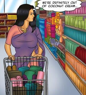 Big tits Indian wife's public shopping