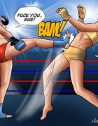 Redhead dominates blonde in wrestling match. Tiger Jane By Cagri.